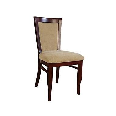 Beechwood Mountain European Chenille Dining Chair, Walnut