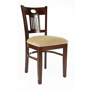Beechwood Mountain Violin Chenille Side Chair, Medium Oak