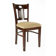 Beechwood Mountain Violin Chenille Side Chair, Medium Oak