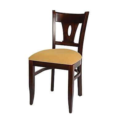 Beechwood Mountain Tear Drop Microfiber Side Chair, Walnut