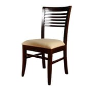 Beechwood Mountain Venetian Microfiber Side Chair, Dark Mahogany