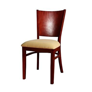 Beechwood Mountain Hendrix Microfiber Side Chair, Mahogany
