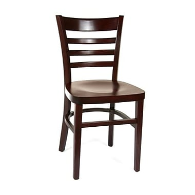 Beechwood Mountain Horizon Wood Side Chair, Dark Mahogany