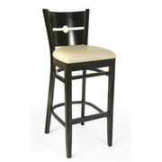 Beechwood Mountain Coin Faux Leather Barstool, Black