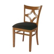 Beechwood Mountain Diamond Back Microfiber Side Chair, Cherry