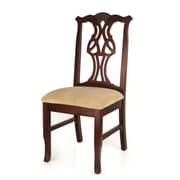 Beechwood Mountain Chippendale Microfiber Dining Chair, Medium Oak