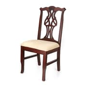 Beechwood Mountain Chippendale Solid Beechwood Dining Chair, Dark Mahogany