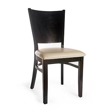 Beechwood Mountain Hendrix Microfiber Side Chair, Black