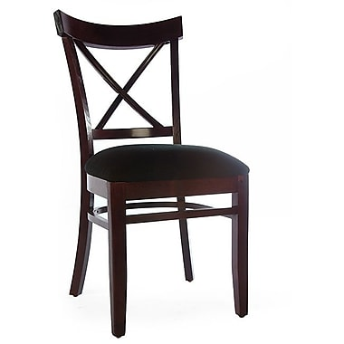 Beechwood Mountain X-back Chenille Fabric Side Chairs