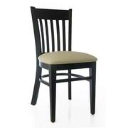 Beechwood Mountain Westbury Faux Leather Side Chair, Black