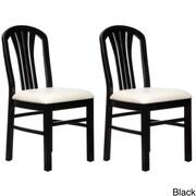 Beechwood Mountain Fanback Chenille Side Chair, Black