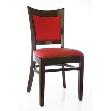 Beechwood Mountain Hyatt Faux Leather Side Chair, Walnut