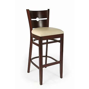 Beechwood Mountain Coin Faux Leather Barstools