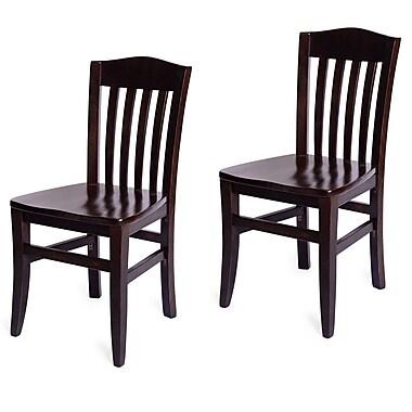 Beechwood Mountain Jacob ll Solid Beechwood Side Chair, Dark Mahogany