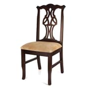 Beechwood Mountain Chippendale Microfiber Dining Chair, Walnut