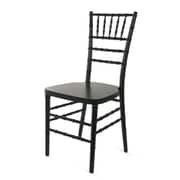 Beechwood Mountain Wood Stackable Ballroom Chairs, Black
