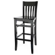 Beechwood Mountain Jacob Solid Beechwood Barstool, Walnut