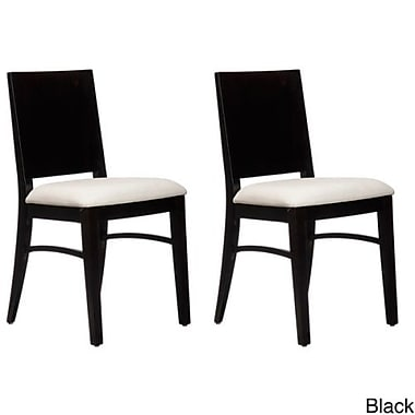 Beechwood Mountain Con Upholstered Linen Side Chair, Dark Walnut