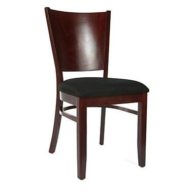Beechwood Mountain Hendrix Microfiber Side Chair, Dark Mahogany