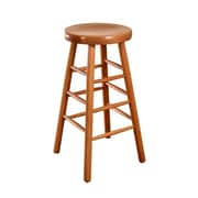 Beechwood Mountain Wood Backless Stool, Natural