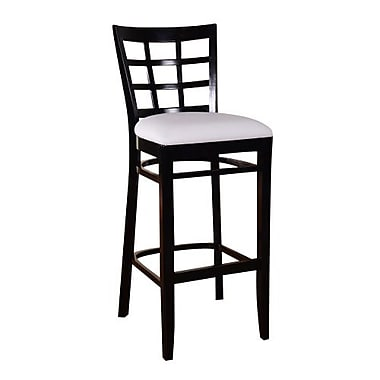 Beechwood Mountain French Chenille Barstool, Black