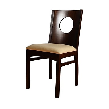 Beechwood Mountain Sphere Linen Side Chair, Walnut