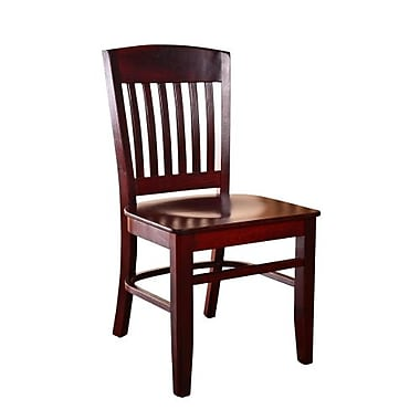 Beechwood Mountain Clayde Wooden Side Chair, Dark Mahogany