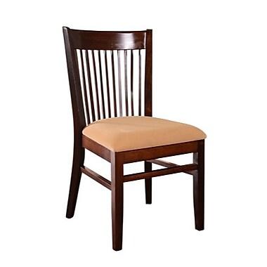 Beechwood Mountain Rachel Microfiber Side Chair, Walnut
