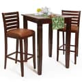 Beechwood Mountain Italy Solid Beechwood Bar Set, Medium Oak