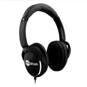 Noisehush® NX28i Ultra Bass Stereo Headphones With In-line Mic, Black