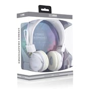 ECO Sound V20 Stereo Headphones With In-line Mic, White