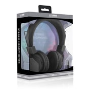 ECO Sound V20 Stereo Headphones With In-line Mic, Black