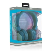 ECO Sound V20 Stereo Headphones With In-line Mic, Blue