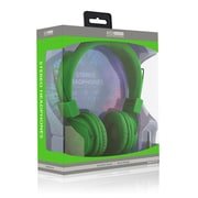 ECO Sound V20 Stereo Headphones With In-line Mic, Green