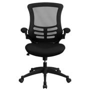 Flash Furniture BLX5MBK Mesh Mid-Back Task Chair with Flip Up Arms, Black