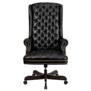 Flash Furniture LeatherSoft Leather Executive Office Chair, Fixed Arms, Black (CI360BK)