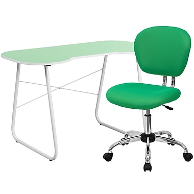 Flash Furniture Computer/Writing Desk with Task Chair, Green (NAN12)
