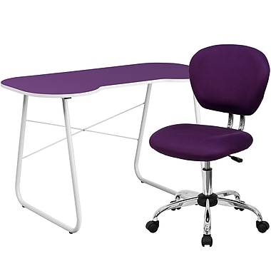 Flash Furniture Computer/Writing Desk with Task Chair, Purple (NAN13)