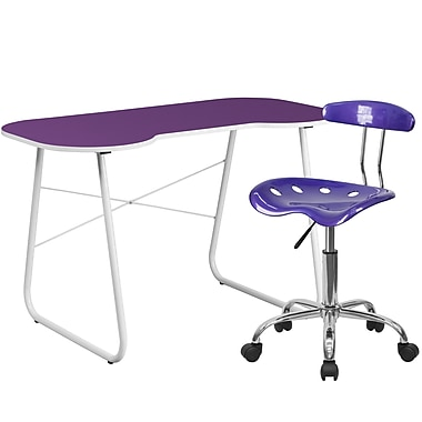 Flash Furniture Standard Computer/Writing Desk with Task Chair, Purple (NAN13LF)