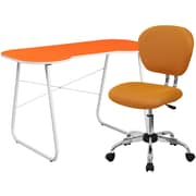 Flash Furniture Standard Computer/Writing Desk with Task Chair, Orange (NAN14)