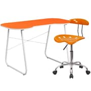 Flash Furniture Standard Computer/Writing Desk with Task Chair, Orange (NAN14LF)