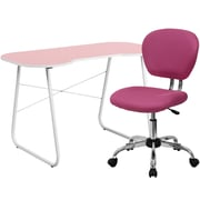Flash Furniture Standard Computer/Writing Desk with Task Chair, Pink (NAN15)