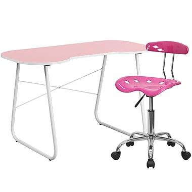 Flash Furniture Standard Computer/Writing Desk with Task Chair, Pink (NAN15LF)