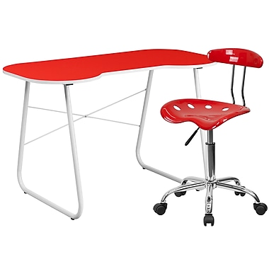 Flash Furniture Standard Computer/Writing Desk with Task Chair, Red (NAN16LF)