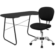 Flash Furniture Standard Computer/Writing Desk with Task Chair, Black (NAN9)