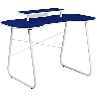 Flash Furniture Standard 47.25'' Rectangular Laminate Contemporary Computer Desk, Navy/White (NANJN2360MTNY)