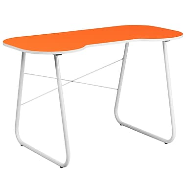 Flash Furniture Standard Computer/Writing Desk, Orange/White (NANJN2360OR)