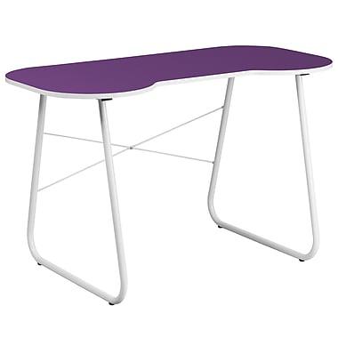 Flash Furniture Standard Computer/Writing Desk, Purple/White (NANJN2360PU)