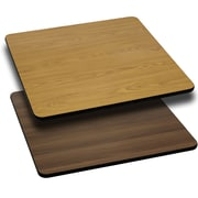 "Flash Furniture XUWNT4242 42""Sq Laminate Natural/Walnut Table Top"