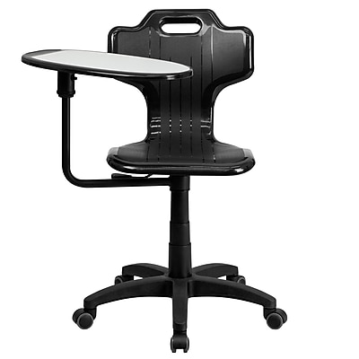 Flash Furniture YU-YCX-032-GG Plastic Mid-Back Armless Task Chair, Black 1240901